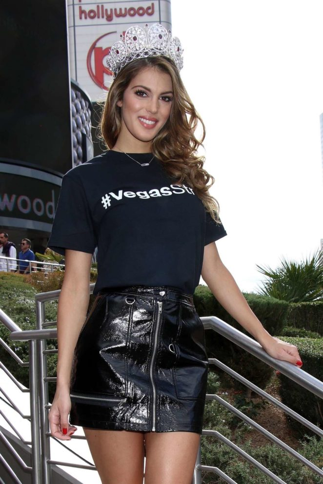 Iris Mittenaere - Arrive at a welcome event at Planet Hollywood Resort and Casino in Las Vegas