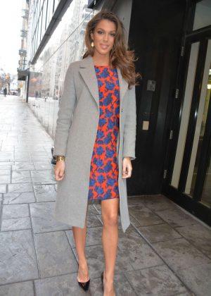 Iris Mittenaere - Arrives to Fox 5 Good Day Studios in New York