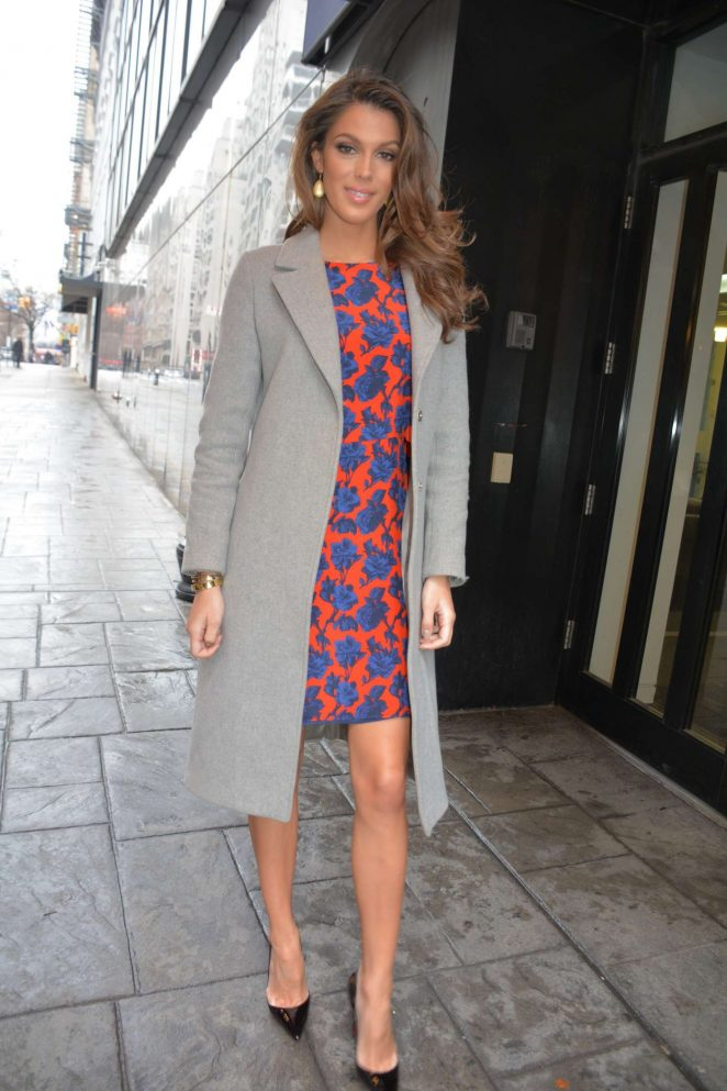 Iris Mittenaere - Arrives to Fox 5 Good Day Studios in New York