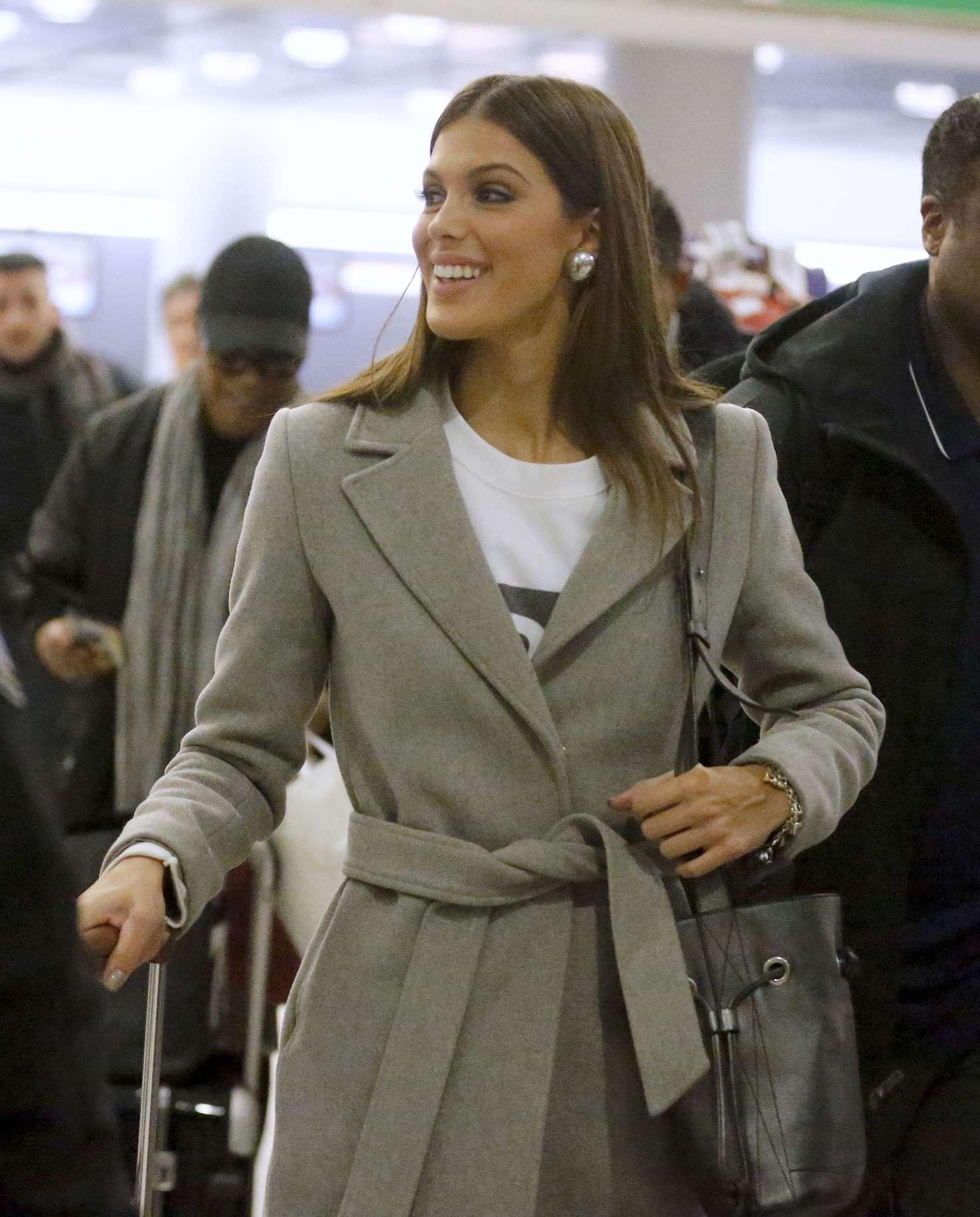 Iris Mittenaere at JFK Airport in New York