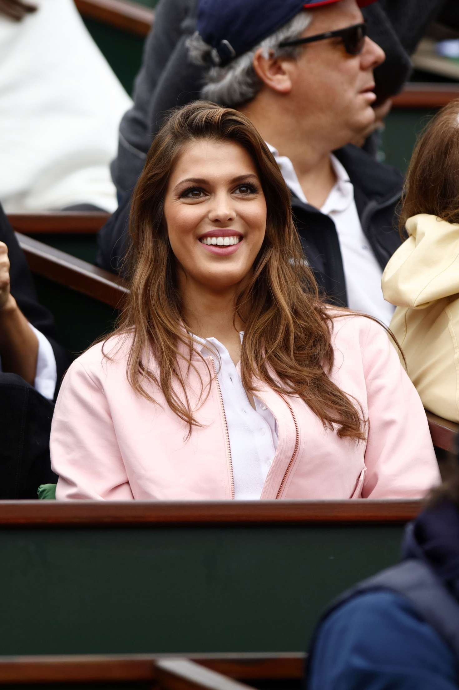 Iris Mittenaere Miss France 2016 at Rolan Garros 2016 in Franve