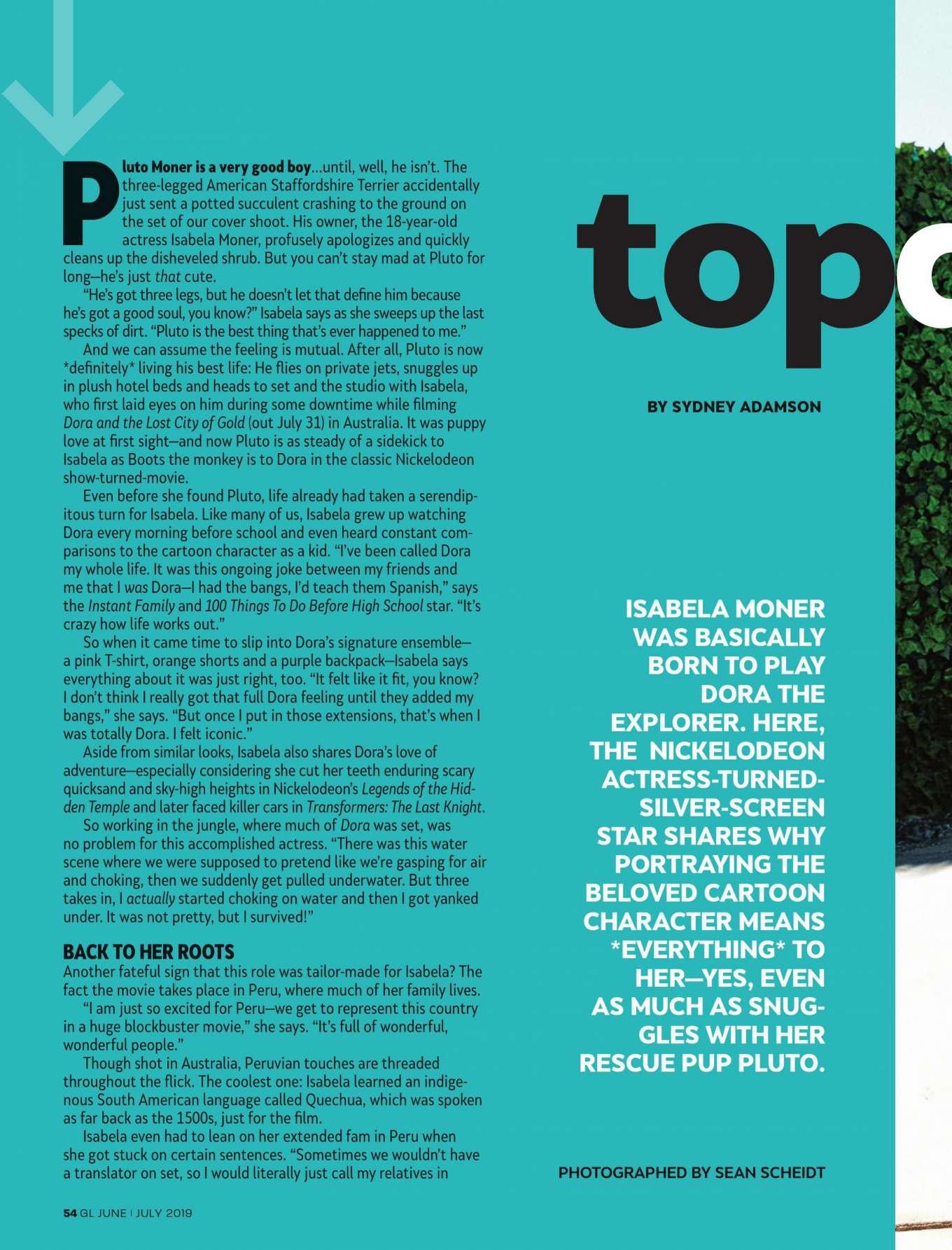 Isabela Moner 2019 : Isabela Moner: Girls Life Magazine 2019 adds-01
