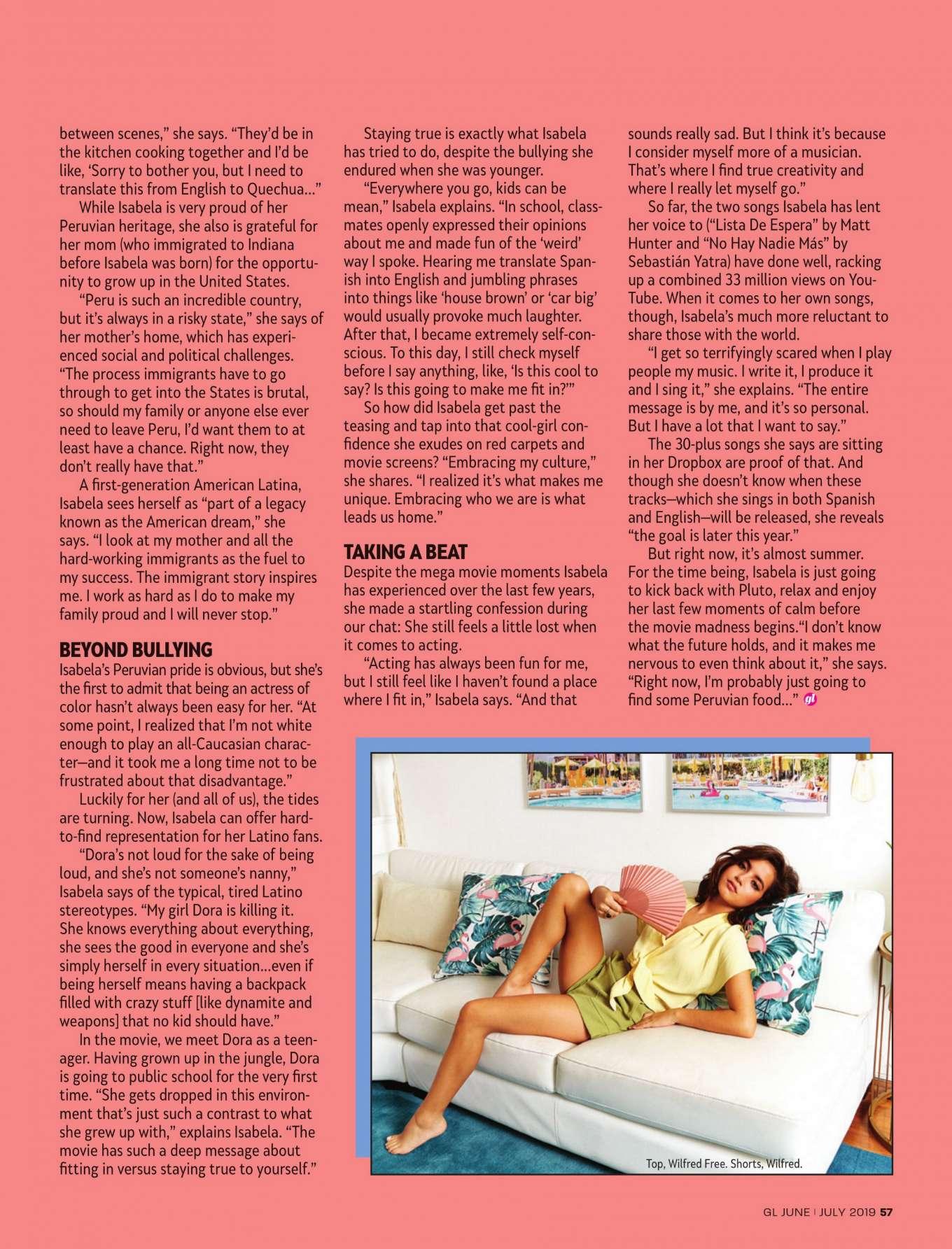 Isabela Moner 2019 : Isabela Moner: Girls Life Magazine 2019 adds-14