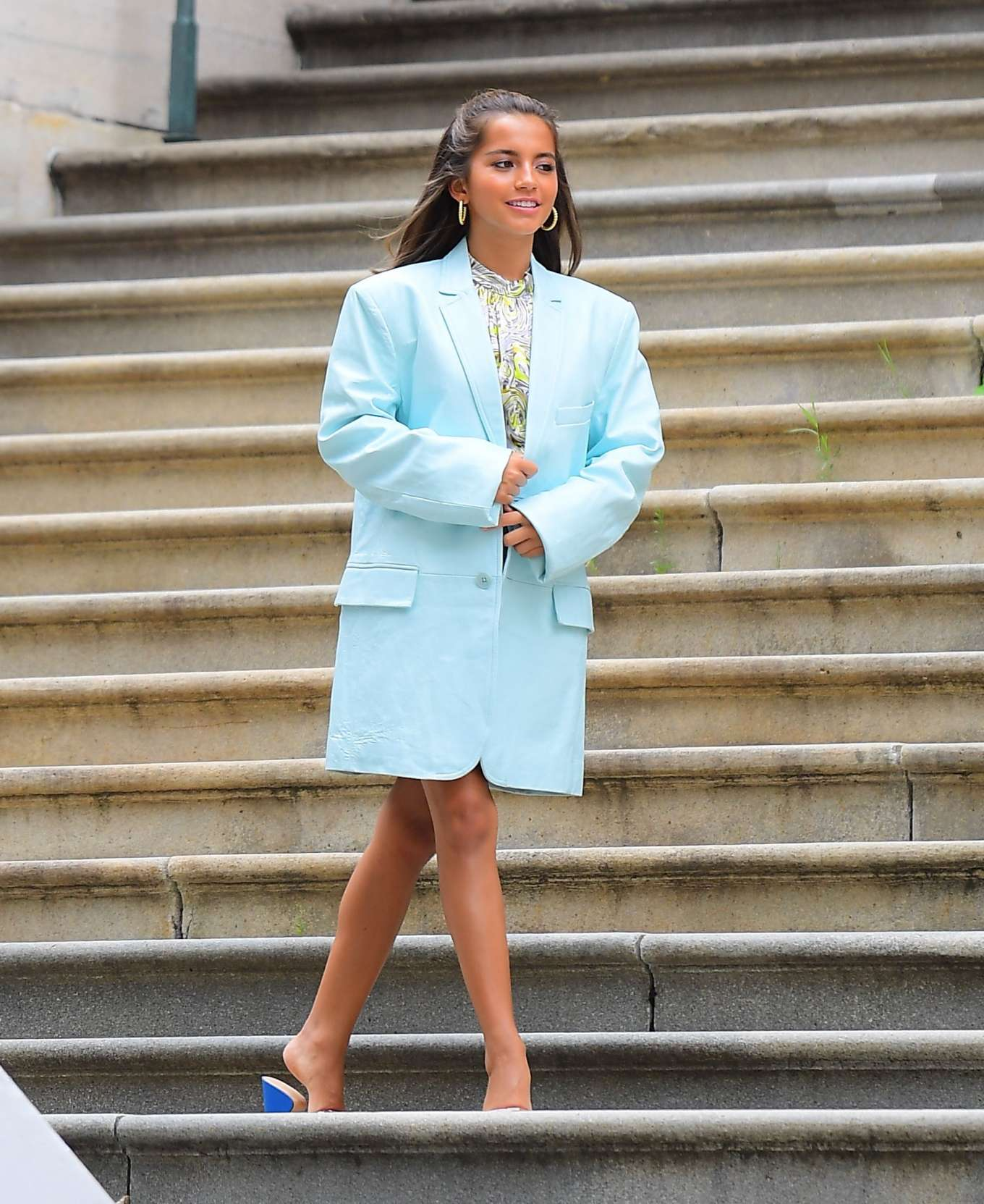 Isabela Moner 2019 : Isabela Moner – Poses for Stylish Photoshoot on the Steps of City Hall-02