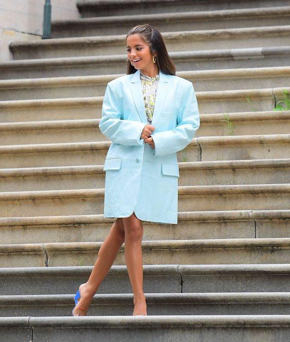 Isabela Moner Poses For Stylish Photoshoot On The Steps Of