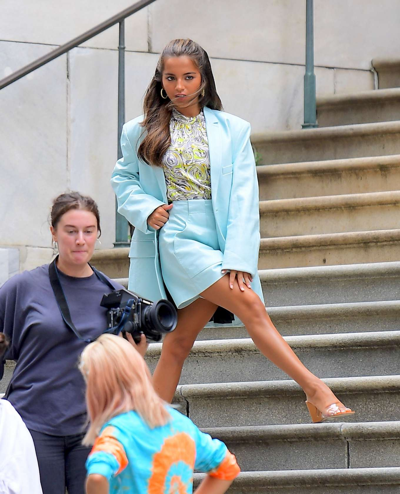 Isabela Moner 2019 : Isabela Moner – Poses for Stylish Photoshoot on the Steps of City Hall-17