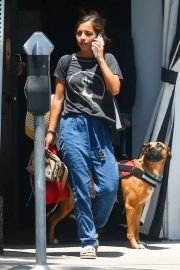 Isabela Moner - Walking her dog Pluto in West Hollywood