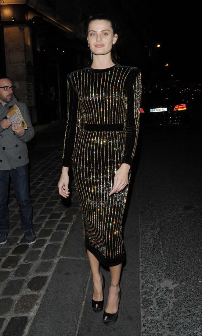 Isabeli Fontana - Balmain Show After Party in Paris