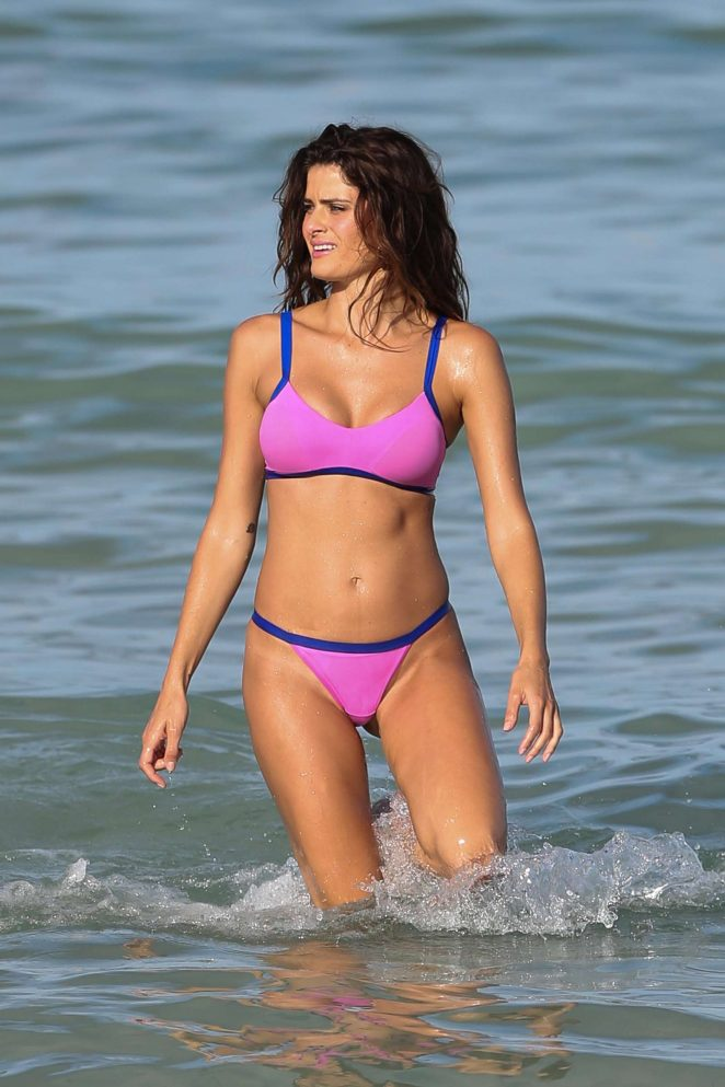 Isabeli Fontana - Bikini Photoshoot in Miami Beach