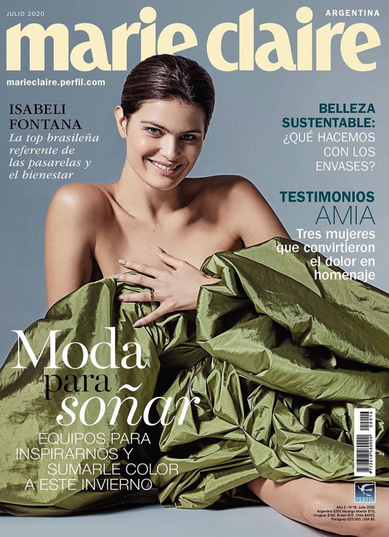 Isabeli Fontana for Marie Claire Argentina Cover (July 2020)