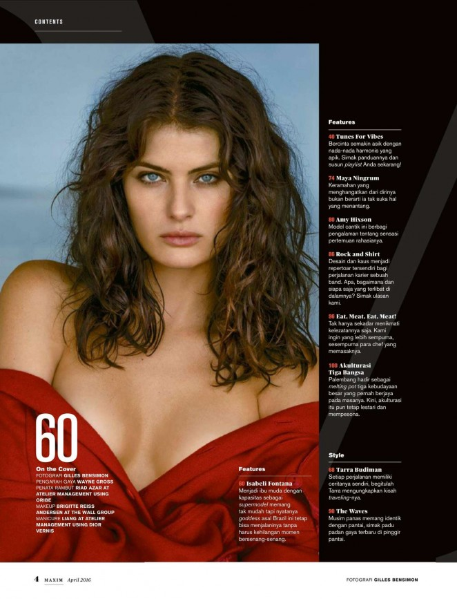 Isabeli Fontana - Maxim Indonesia Magazine (April 2016)