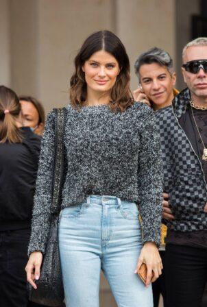 Isabeli Fontana - Seen leaving L'Oreal Paris 2021 Show during Paris Fashion Week