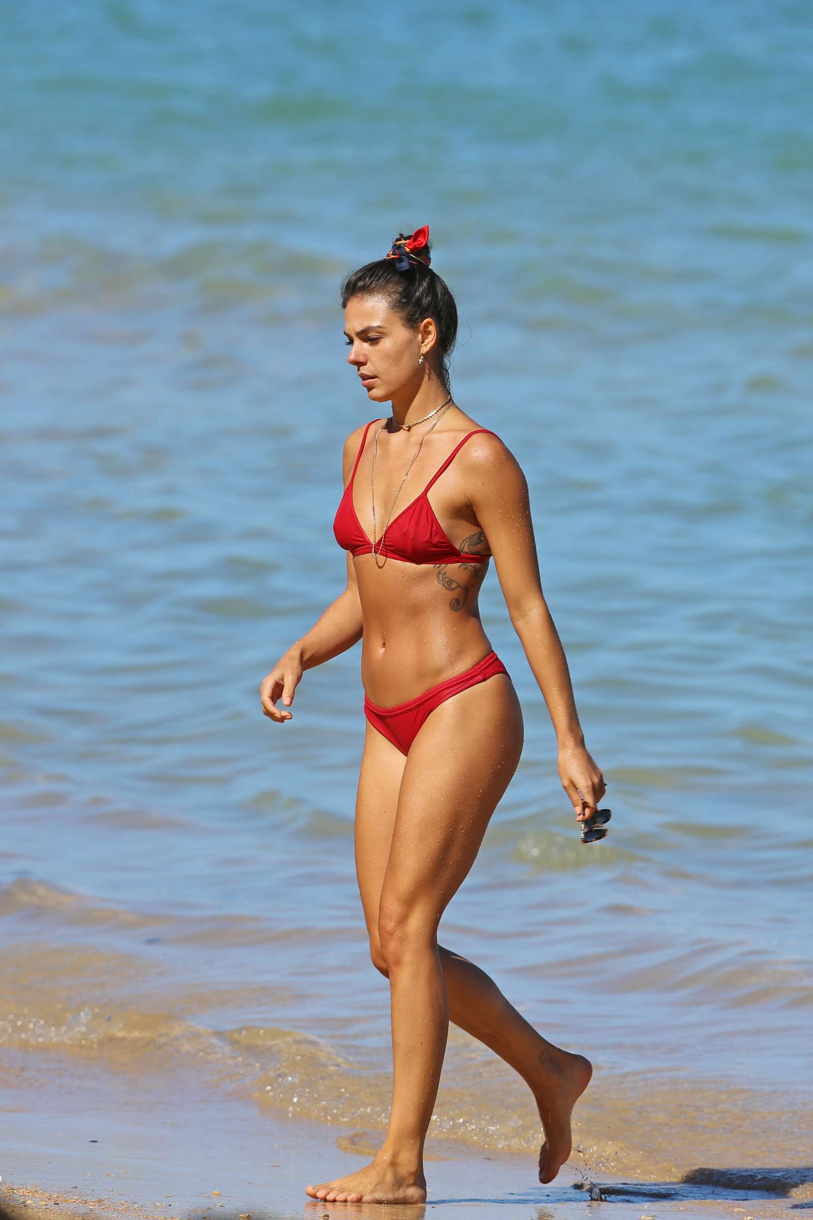 Isis Valverde in Red Bikini on the beach in Hawaii Pic 1 of 35