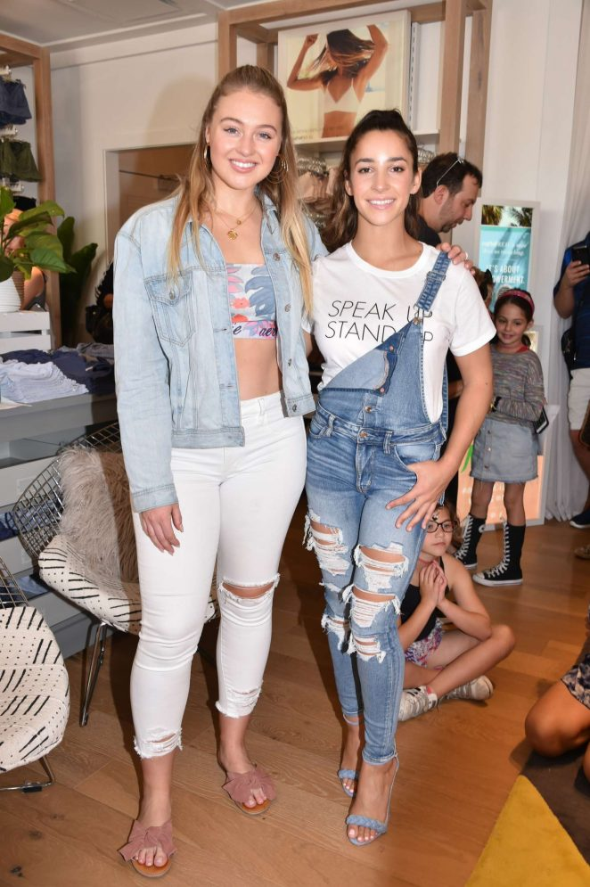 Iskra Lawrence and Aly Raisman - Aerie Lincoln Road Flagship Store in Miami
