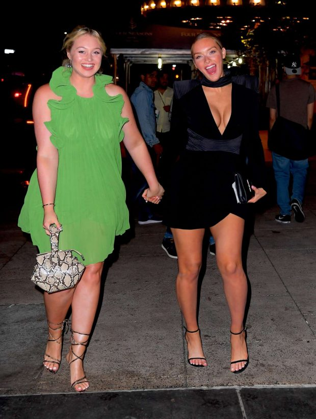Iskra Lawrence and Camille Kostek - Arriving at Tao in New York