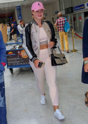 Iskra Lawrence - Arriving at Nice Airport