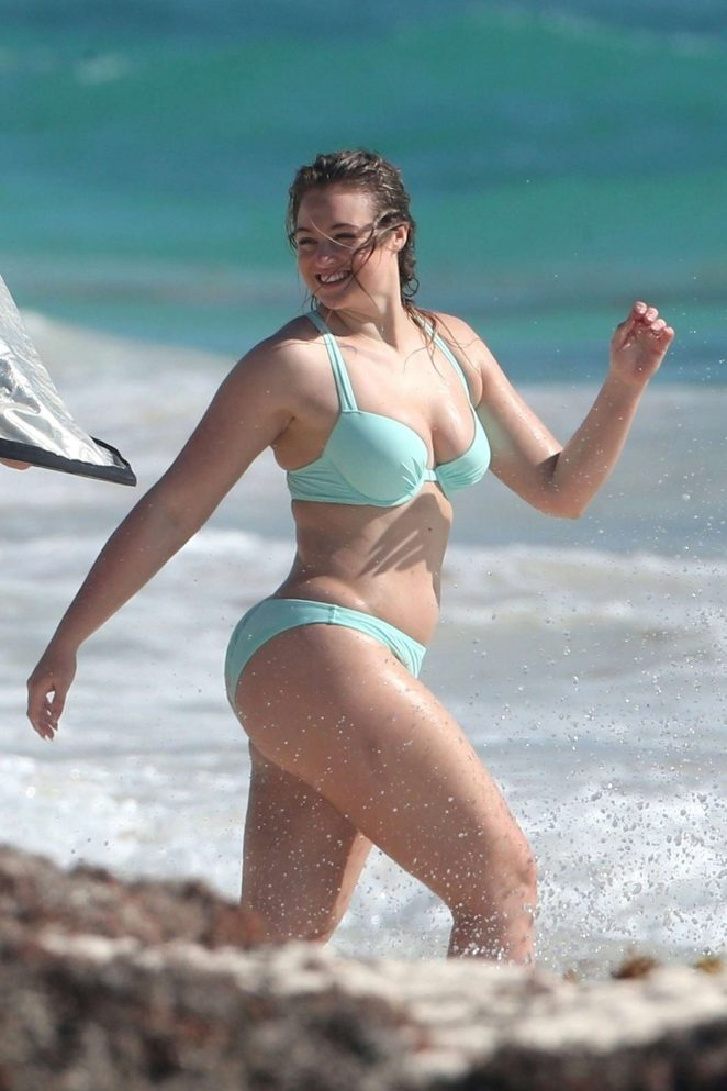 Iskra Lawrence in Bikini and Swimsuit - Aerie Photoshoot in Tulum