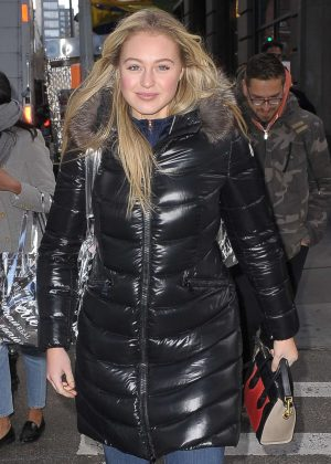Iskra Lawrence out in New York
