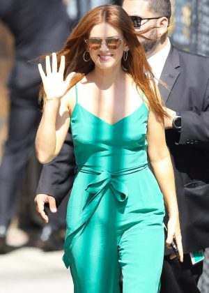 Isla Fisher - Arrive at 'Jimmy Kimmel Live' in Hollywood