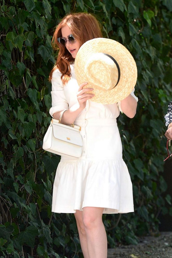Isla Fisher - Arrives at Stella Mccartney H.E.A.R.T. Brunch in Beverly Hills