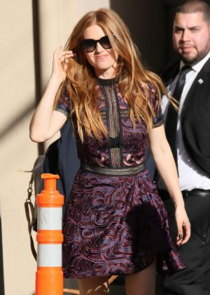Isla Fisher - Arriving at 'Jimmy Kimmel Live' in Hollywood