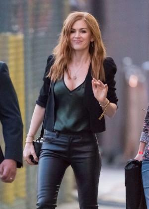 Isla Fisher - Arriving at 'Jimmy Kimmel Live' in LA