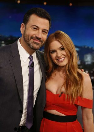 Isla Fisher at Jimmy Kimmel Live! in Los Angeles