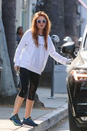Isla Fisher in Black Leggings - Out in Beverly Hills