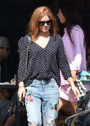 Isla Fisher in Jeans out in West Hollywood