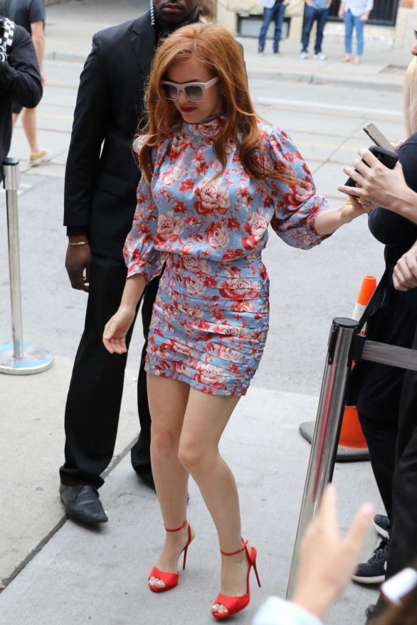 Isla Fisher in Mini Dress at the LA Times Junket - TIFF 2019