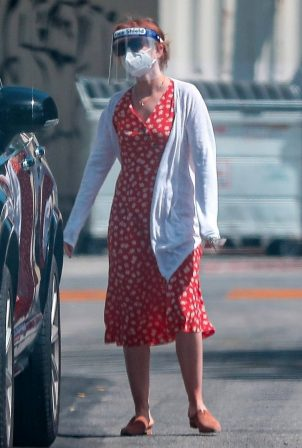Isla Fisher in Summer Dress - Out in LA