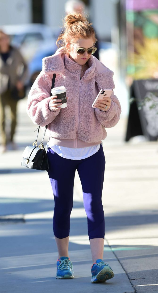 Isla Fisher in Tights – Out in Los Angeles