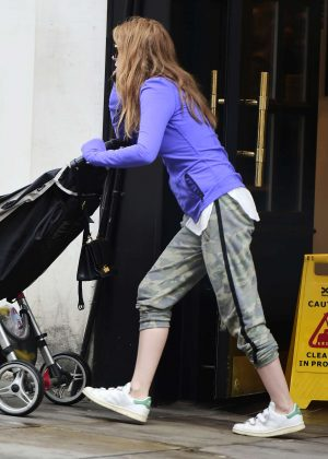Isla Fisher Out in North London