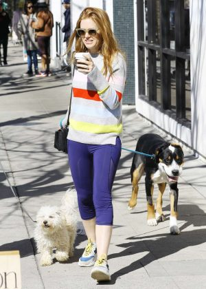 Isla Fisher - Takes her dogs out for a walk in LA