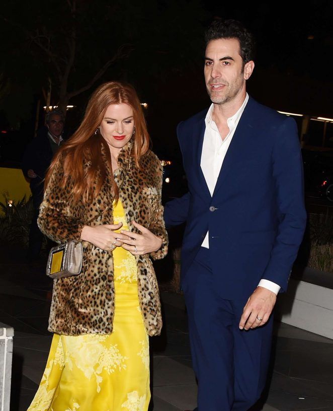 Isla Fisher With Sacha Baron Cohen out in Los Angeles