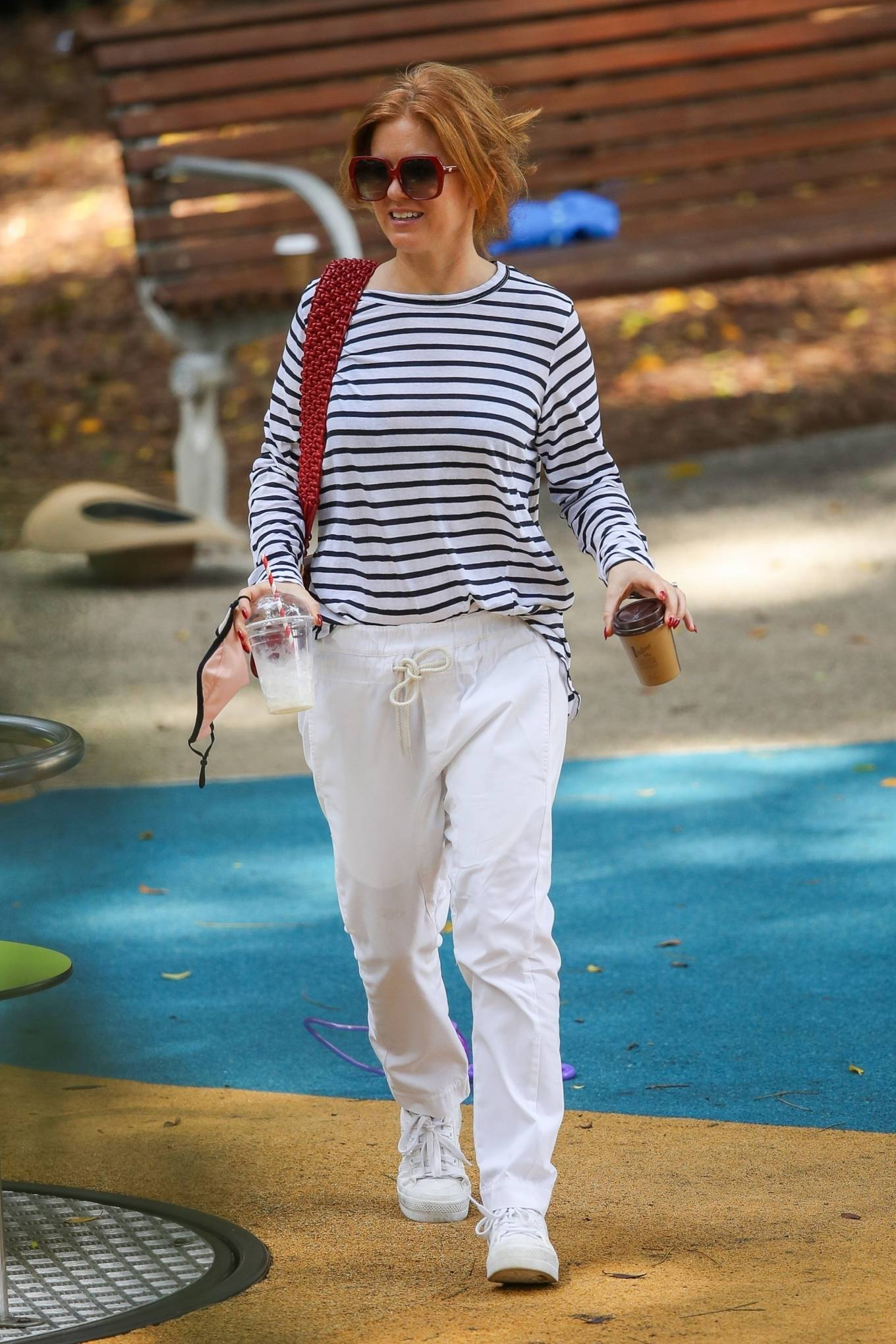 Isla Fisher - With Sacha Baron Cohen seen at a park in Sydney