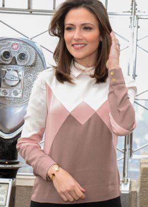 Italia Ricci Promotes 'Designated Survivor' at Empire State Building in NY