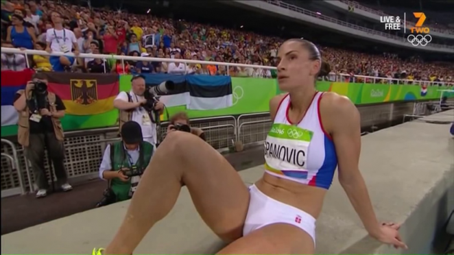 Ivana Spanovic of Serbia at Women's Long Jump 2016 in Rio de Janeiro