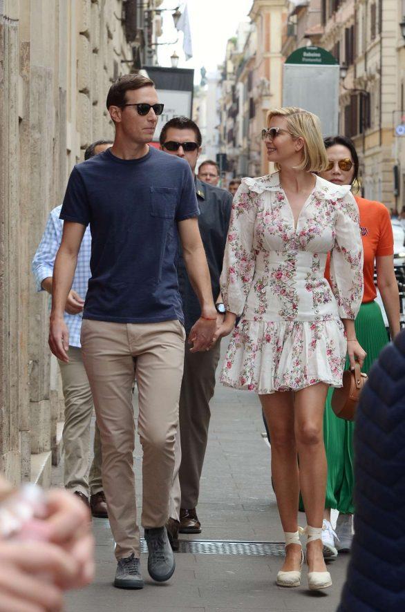 Ivanka Trump 2019 : Ivanka Trump and her husband Jared Kushner – Out in Rome-02