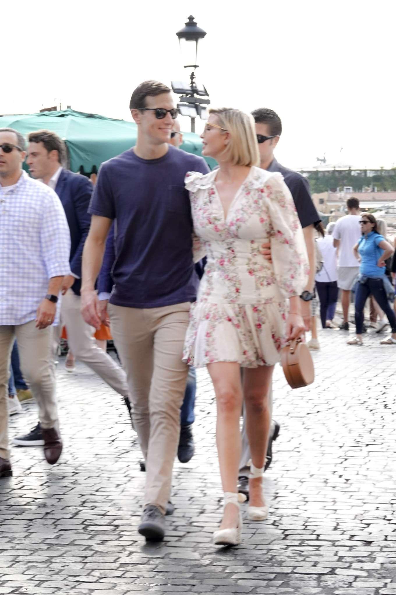 Ivanka Trump 2019 : Ivanka Trump and her husband Jared Kushner – Out in Rome-04