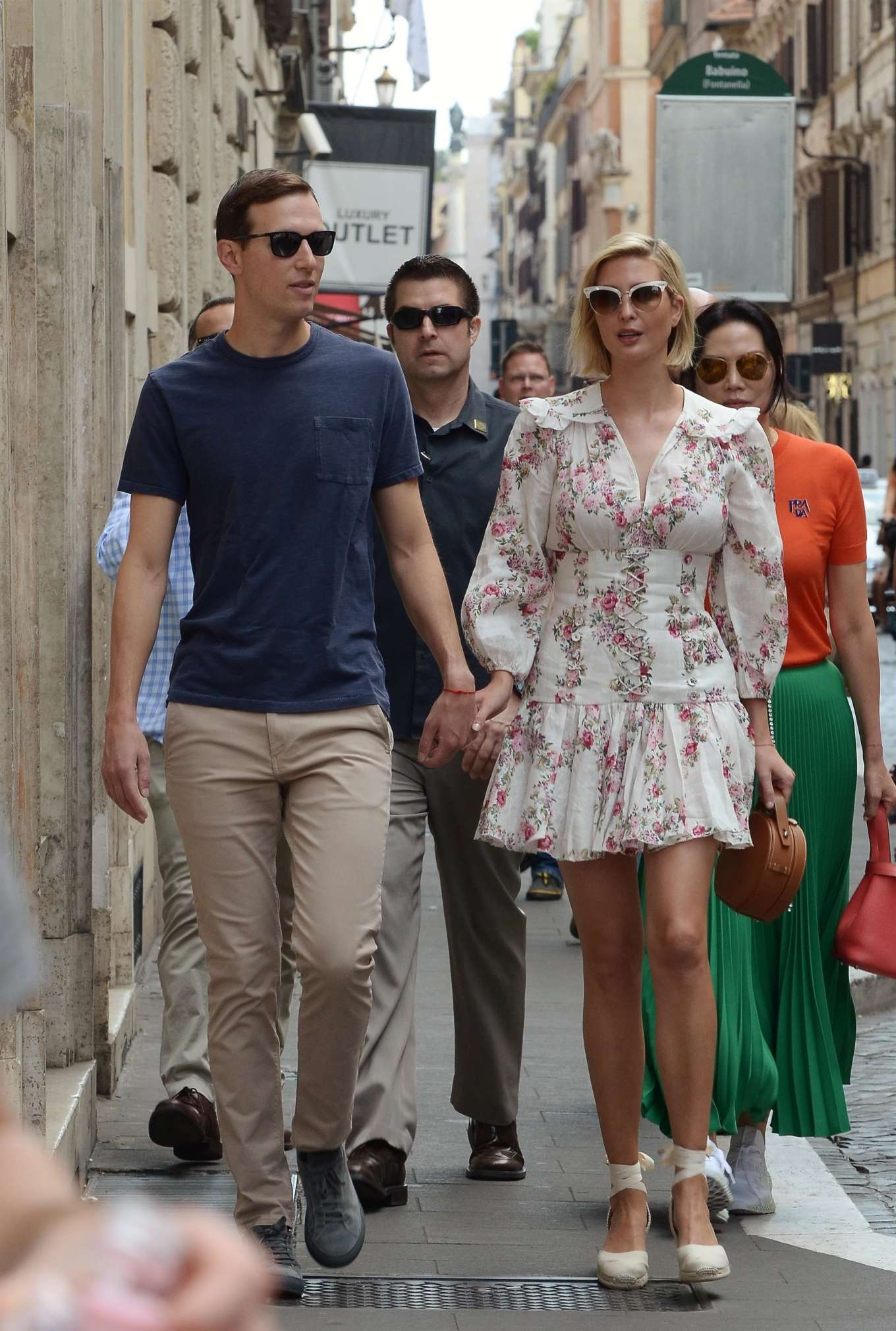Ivanka Trump 2019 : Ivanka Trump and her husband Jared Kushner – Out in Rome-06