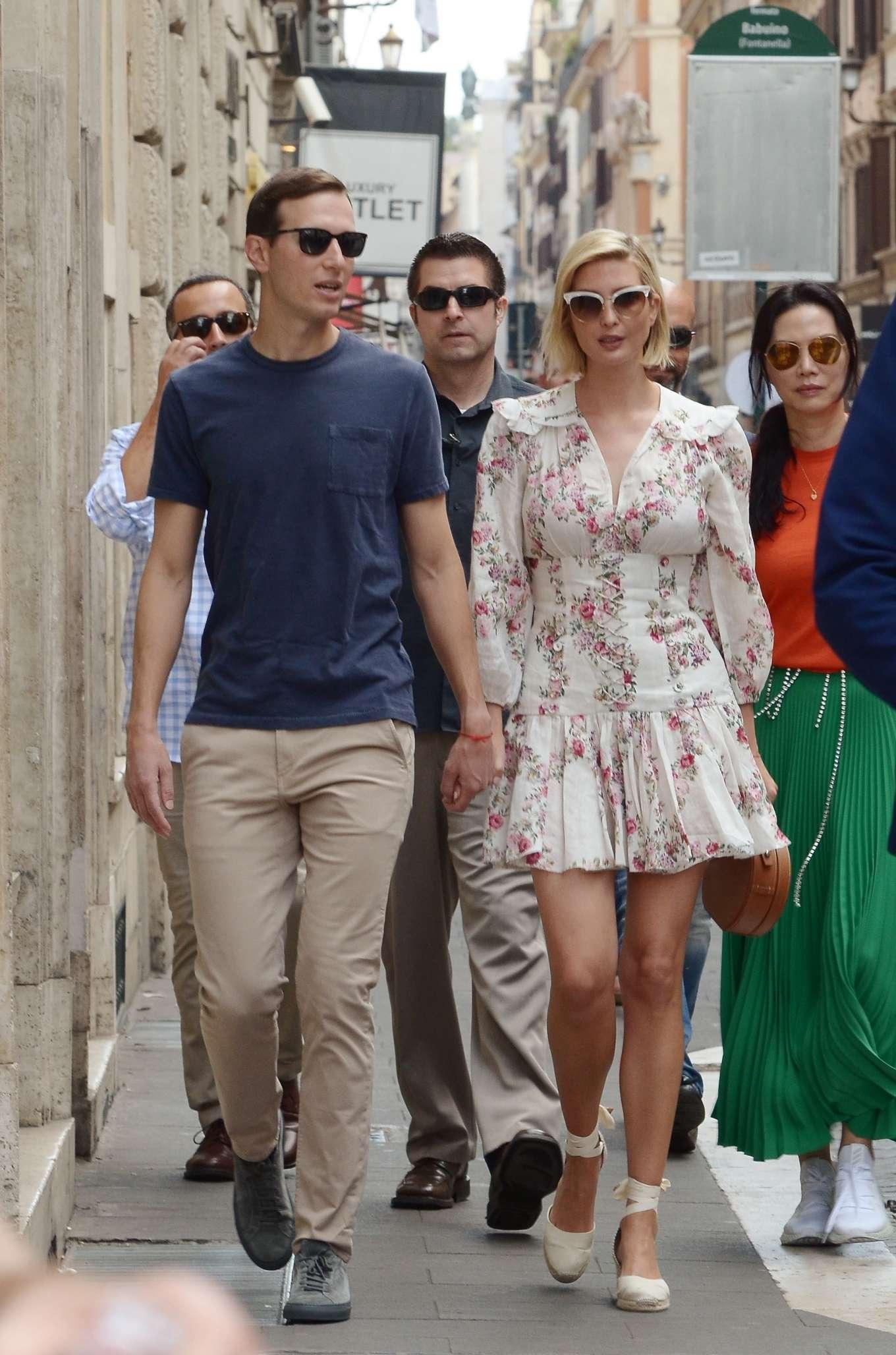 Ivanka Trump 2019 : Ivanka Trump and her husband Jared Kushner – Out in Rome-09