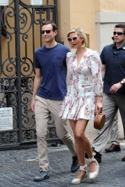 Ivanka Trump and her husband Jared Kushner - Out in Rome