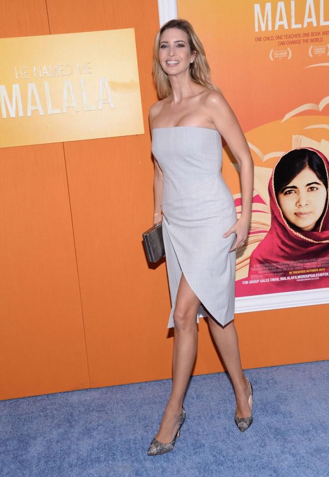 Ivanka Trump - 'He Named Me Malala' Premiere in NY