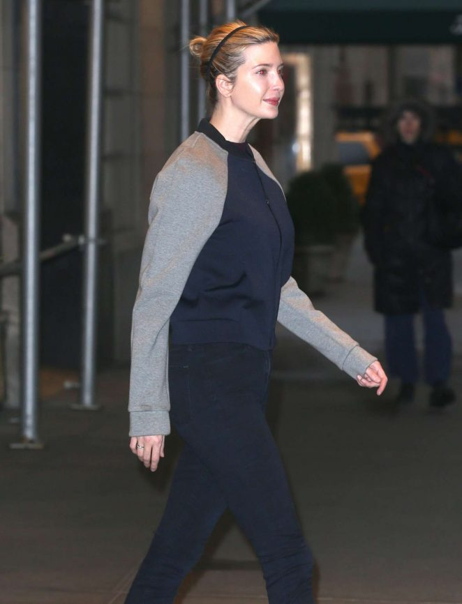 Ivanka Trump - Heads to the Gym in New York City