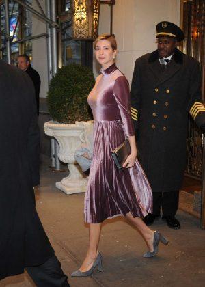 Ivanka Trump heads to work in NYC