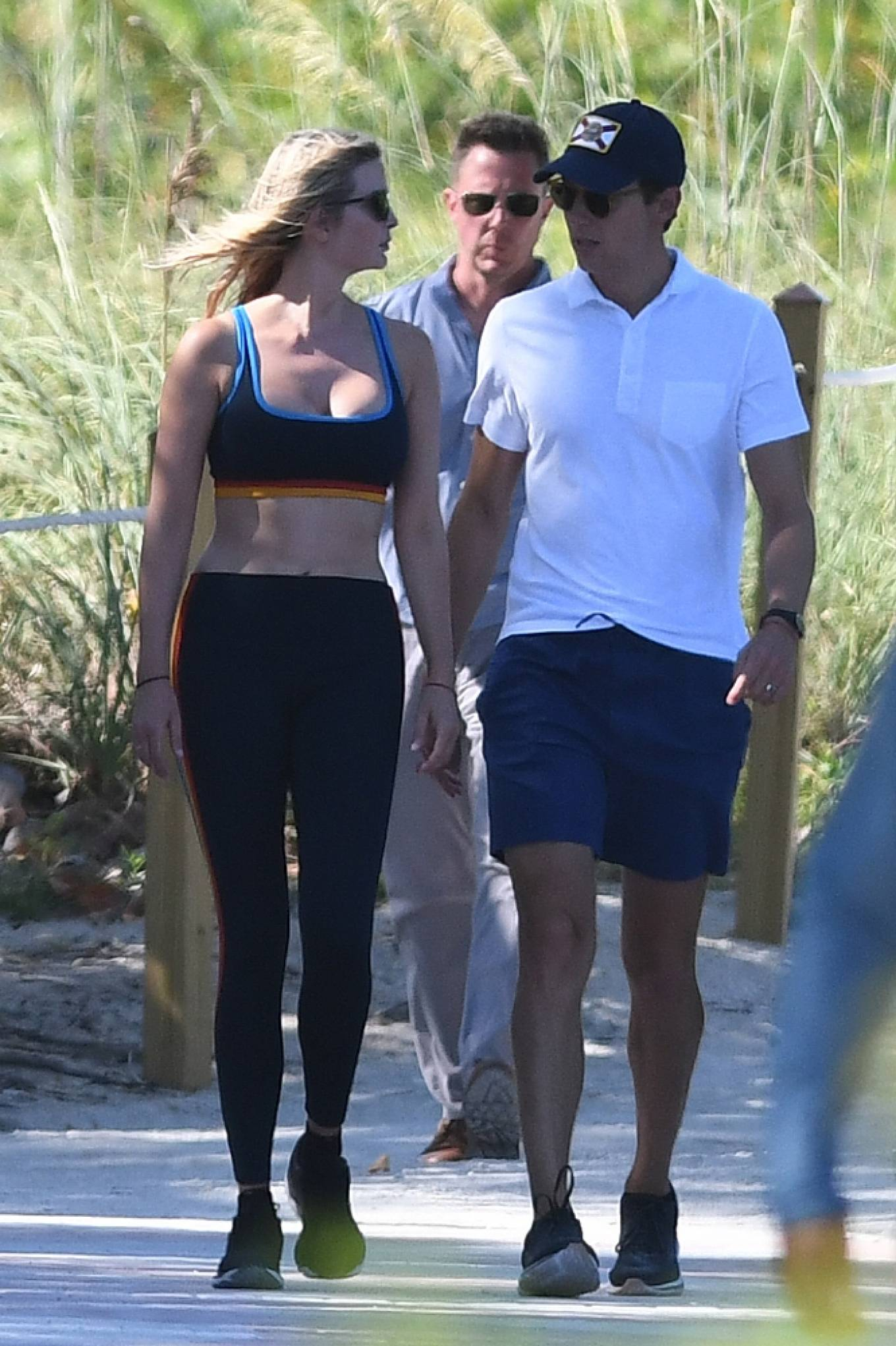 Ivanka Trump 2021 : Ivanka Trump – in a sports bra and leggings with husband Jared Kushner in Miami-21