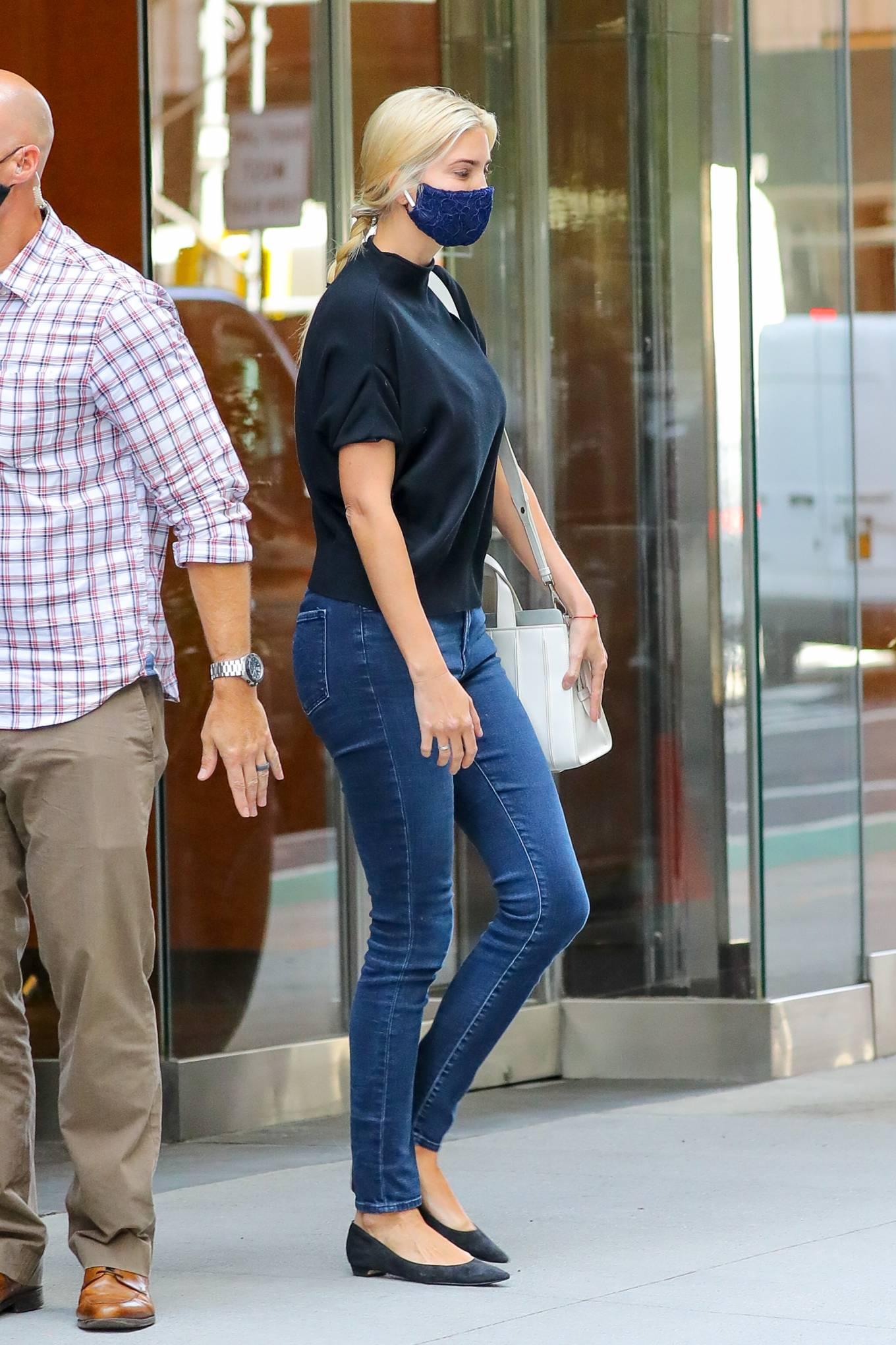 Ivanka Trump - In denim leaving an office building in NYC