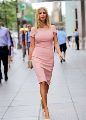 Ivanka Trump In Peach Dress Out In New York Gotceleb