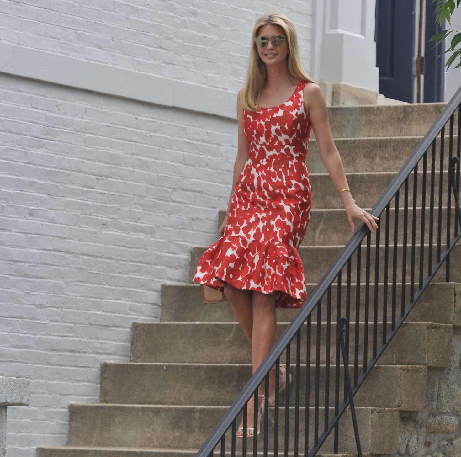 Ivanka Trump 2017 : Ivanka Trump in Red Dress -09